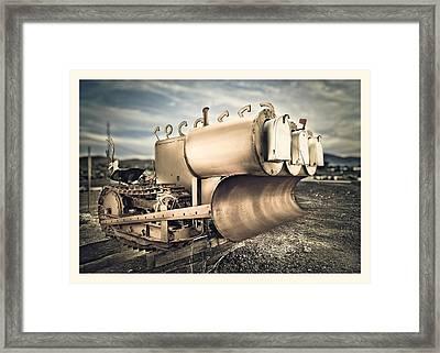 Mini Excavator Mailbox Framed Print by Yo Pedro