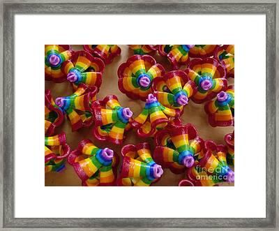 mini Flying Rainbow Lasagnes Framed Print by Nofirstname Aurora