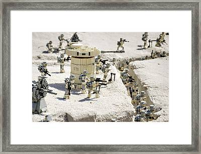 Mini Hoth Battle Framed Print by Ricky Barnard