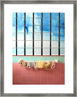 Mini Laundry Framed Print by Daniel Furon