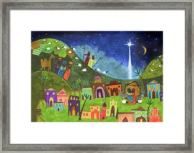 Mini Nativity Framed Print by Kate Cosgrove
