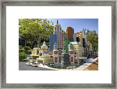 Mini Nyny Casino Framed Print by Ricky Barnard