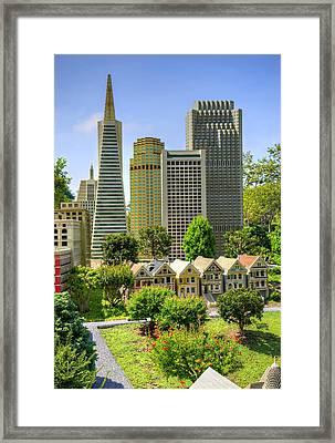 Mini San Fran Framed Print by Ricky Barnard