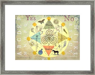 Mini Spirit Board Framed Print by Sacred  Muse