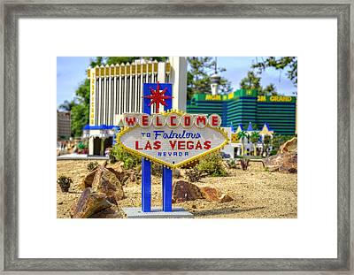 Mini Vegas Framed Print by Ricky Barnard