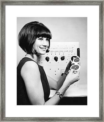 Miniature Computer Components Framed Print by Underwood Archives
