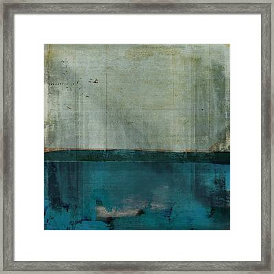 Minima - S02b Turquoise Framed Print by Variance Collections