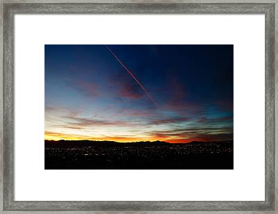 Mining City Sunset Framed Print by Kevin Bone