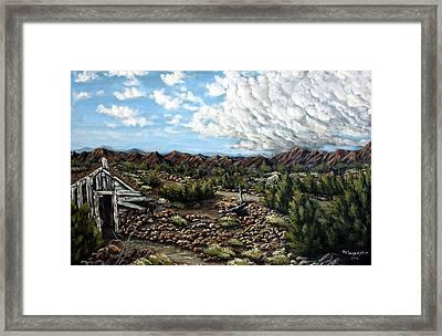 Mining Nevada Framed Print by Julie Townsend
