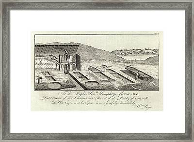 Mining Ore Pits Framed Print by Royal Institution Of Great Britain