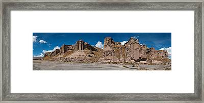 Mining Outpost In The Highlands Close To Colca Canyon Framed Print by Ulrich Schade