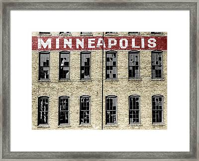 Minneapolis Framed Print by Andrew Fare