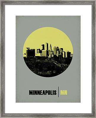 Minneapolis Circle Poster 2 Framed Print by Naxart Studio