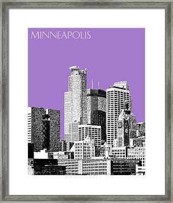 Minneapolis Skyline - Violet  Framed Print by DB Artist