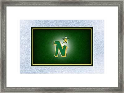 Minnesota North Stars Framed Print by Joe Hamilton