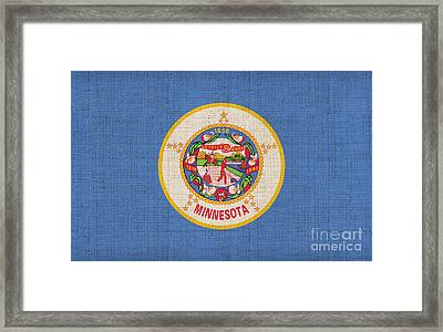 Minnesota State Flag Framed Print by Pixel Chimp