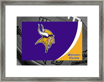Minnesota Vikings Framed Print by Joe Hamilton