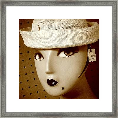 Minnie Pearl Jr. Framed Print by Fetching Sights Photography