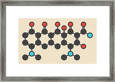 Minocycline Antibiotic Drug Molecule Framed Print by Molekuul