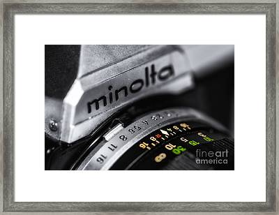 Minolta Xg7 Framed Print by Jerry Fornarotto