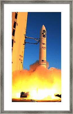 Minotaur Iv Rocket Launches Falconsat-5 Framed Print by Science Source