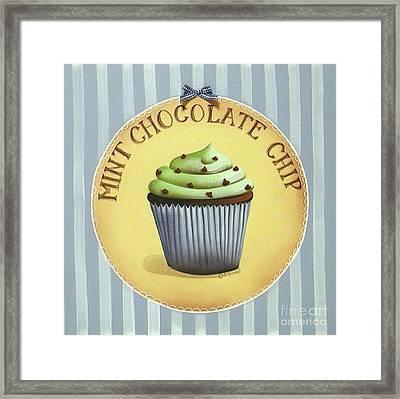 Mint Chocolate Chip Cupcake Framed Print by Catherine Holman
