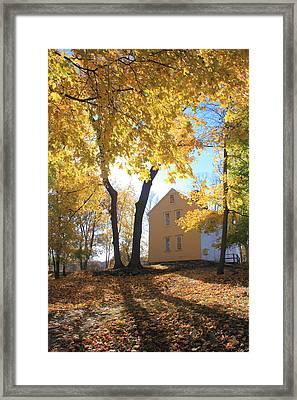 Minuteman National Historic Park Brooks House Framed Print by John Burk
