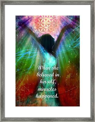 Miracles Happen Framed Print by Tara Catalano