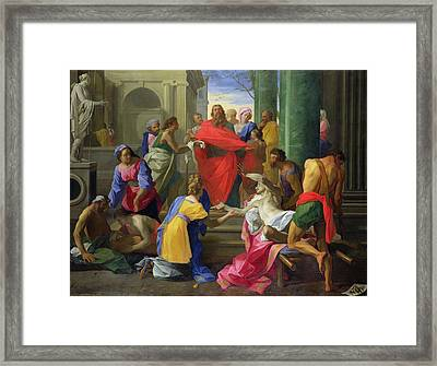 Miracles Of St. Paul At Ephesus, 1693 Oil On Canvas Framed Print by Jean Restout