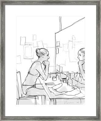 Mirror Framed Print by H James Hoff