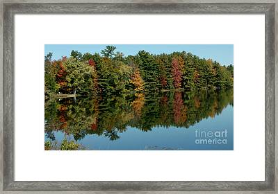 Mirror Mirror On The Wall Fall Is Fairest One Of All Framed Print by Gail Matthews