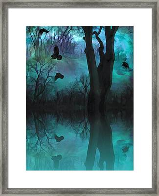 Mirrored  Framed Print by Gothicolors Donna