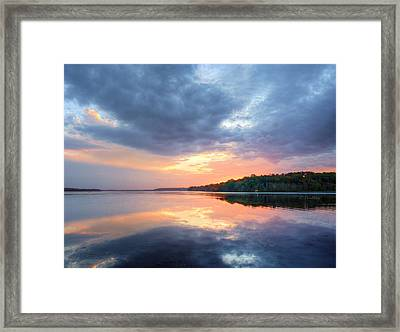 Mirrored Sunset Framed Print by JC Findley