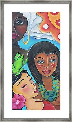 Mis Raices - My Roots Framed Print by Janice Aponte