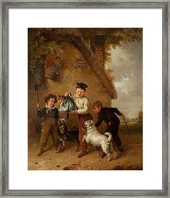 Mischief Framed Print by Edmund Bristow
