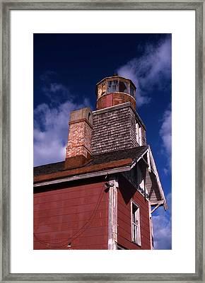 Mispillion Lighthouse Framed Print by Skip Willits