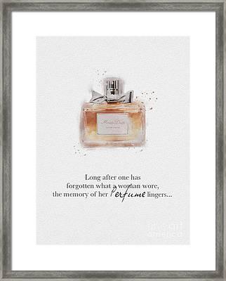 Miss Dior Framed Print by Rebecca Jenkins