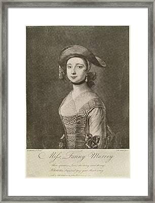 Miss Fanny Murray Framed Print by British Library