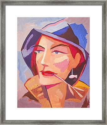 Miss Fisherman Framed Print by Lutz Baar