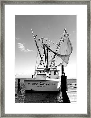 Miss Katlyn Framed Print by Karen Rhodes