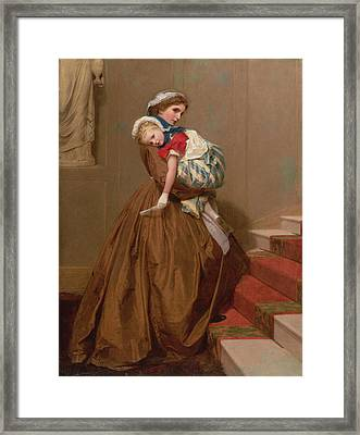Miss Lilys Return From The Ball, 1866 Framed Print by James Hayllar