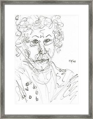 Miss Marple Sketch II Framed Print by Rachel Scott