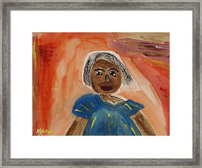 Miss Mary Franklin Framed Print by Mary Carol Williams