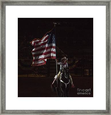 Miss Pro Rodeo Usa Framed Print by Janice Rae Pariza