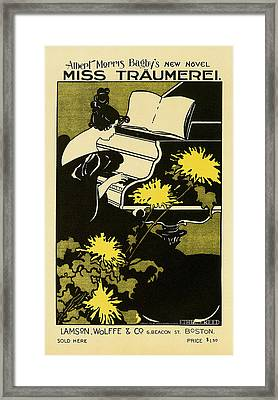 Miss Traumerei 1895 Framed Print by Ethel Reed