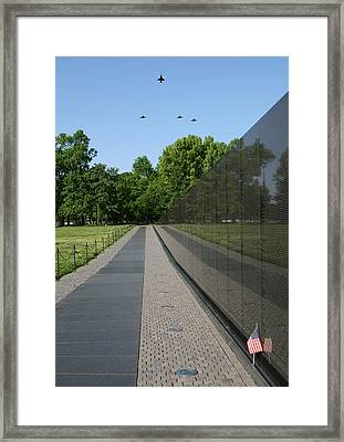 Missing Man F-4 Phantom Framed Print by Peter Chilelli
