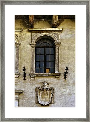 Roman Window Framed Print by Maria Coulson