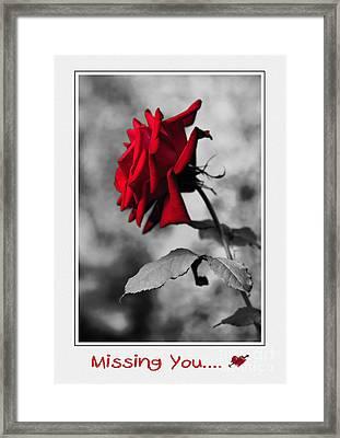 Missing You... Framed Print by Kaye Menner