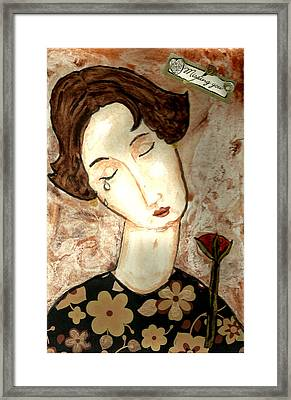 Missing You Framed Print by Peg Holmes