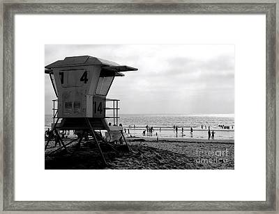 Mission Beach San Diego Framed Print by David Gardener